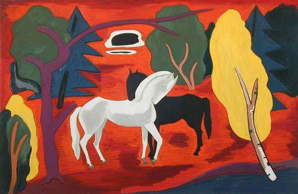 Fritz BRANDTNER - Chevaux dans un paysage (1937)