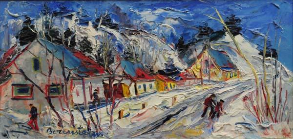 Samuel BORENSTEIN - Paysage d'hiver (c. 1960)