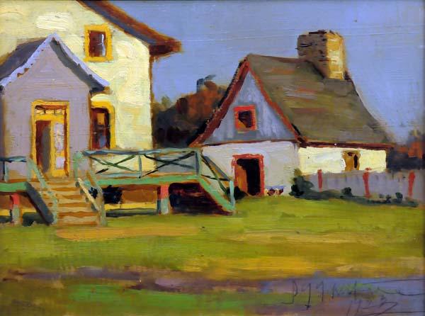 John Young JOHNSTONE - Farm House, Beaupré, Qué. (1923)