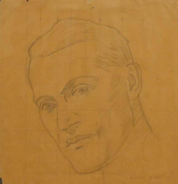 Ozias LEDUC - Étude pour Portrait de l'abbé C.P. Choquette (c. 1940)