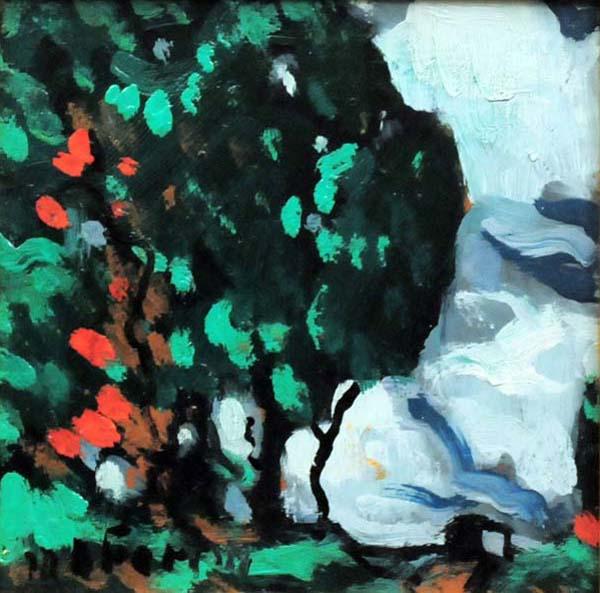 Marc-Aurèle FORTIN - Étude de grand arbre (c. 1922)