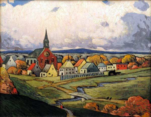 Marc-Aurèle FORTIN - Paysage de Montréal Nord (c. 1924)