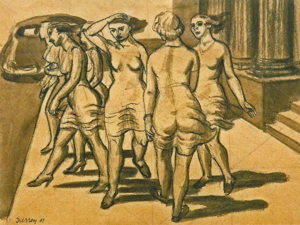 Philip SURREY - Bank Girls, 1947 (Banque de Montréal, 119 St-James)