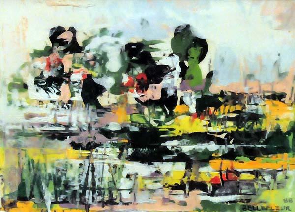 Léon BELLEFLEUR - Paysage abstrait (1988)