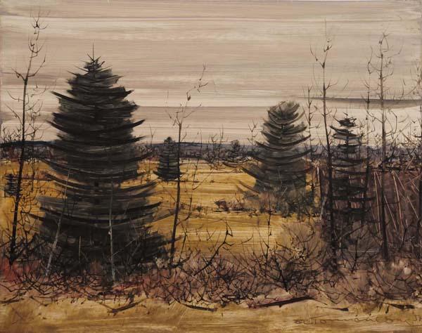 Jacques DE TONNANCOUR - Paysage (1957)