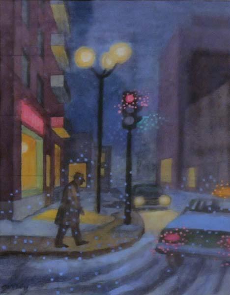 Philip SURREY - Street Scene (c. 1974)