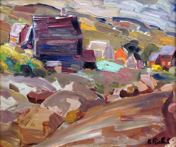 René RICHARD - Paysage (Baie St-Paul) 1955