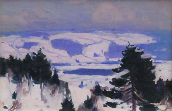 Clarence A. GAGNON - Grey Day, Baie-St-Paul (c. 1923)