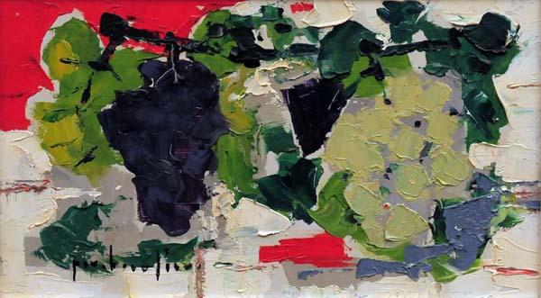 Paul-Vanier BEAULIEU - Nature morte aux raisins (c. 1955)