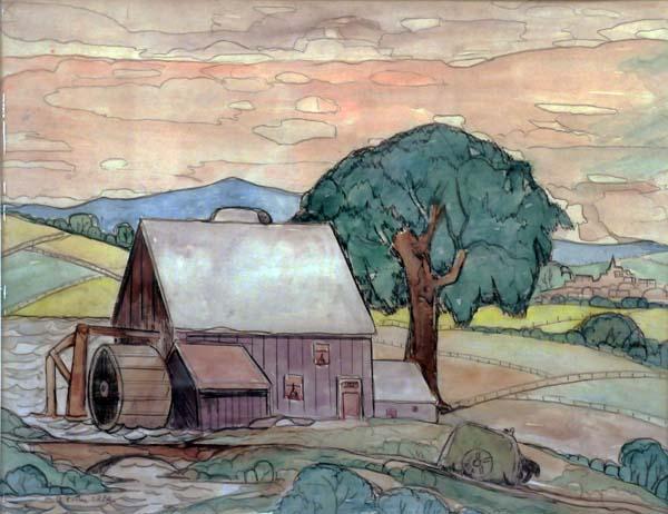 Marc-Aurèle FORTIN - Moulin à l Ïle d Orléans (c. 1945)