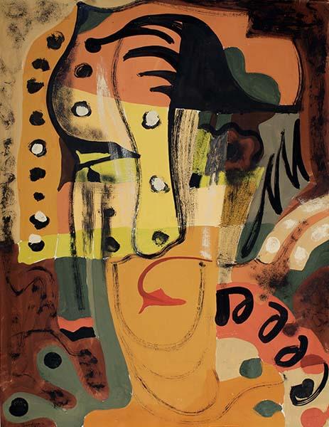 Paul-Émile BORDUAS - Abstraction no. 20 ou portrait de Mme B (1942)