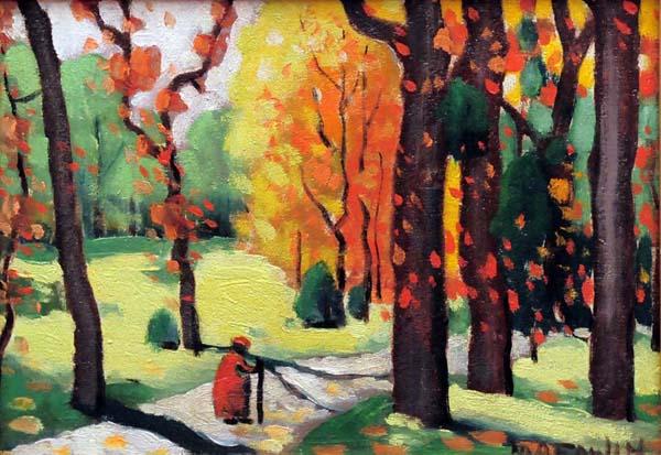 Marc-Aurèle FORTIN - Sans titre (Scène d automne) c. 1921