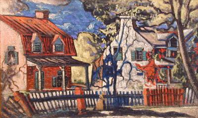 Marc-Aurèle FORTIN - Maisons en été, 1936