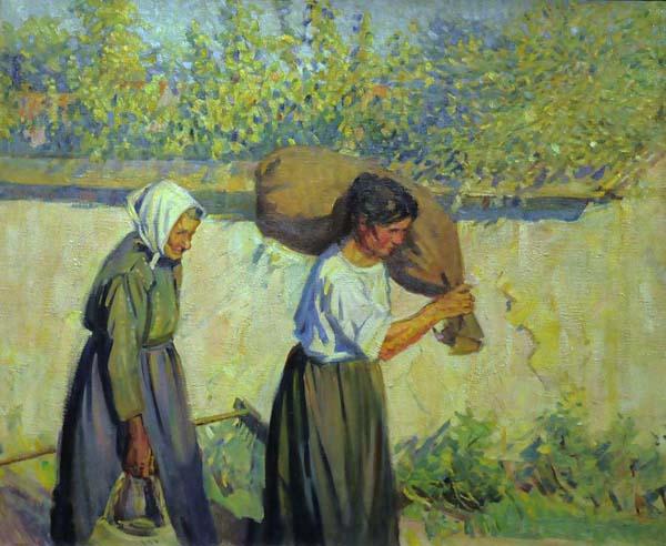 Helen MCNICOLL - Belgian Peasants (c. 1910)