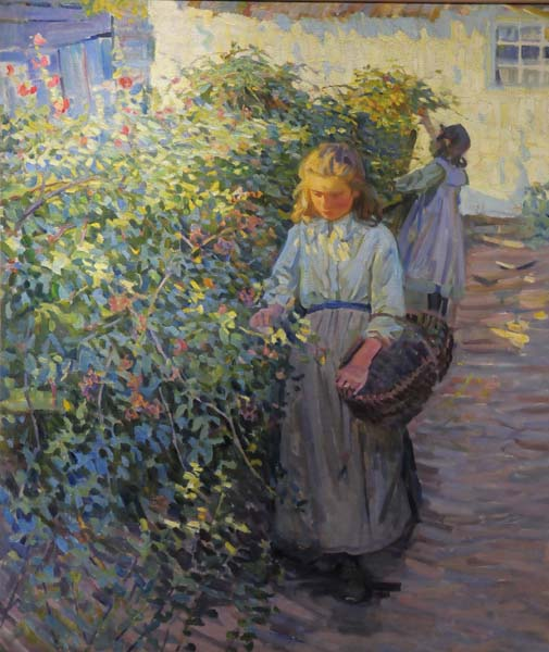 Helen MCNICOLL - Picking Berries (1910)