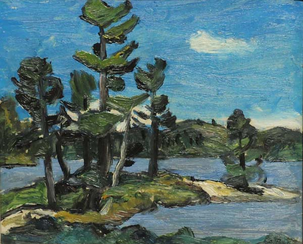Lac à St-Alphonse (double-face) 1941 - Goodridge Roberts