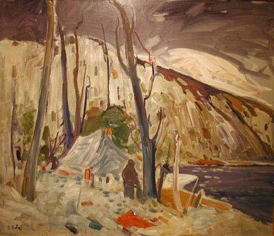 René RICHARD - Scène de trappeurs (c.1955)