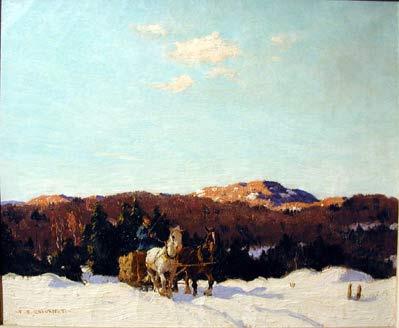 Frederick S. COBURN - Logging in winter       1931