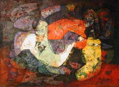 Léon BELLEFLEUR - Abstraction (1955)