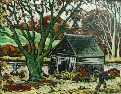 Marc-Aurèle FORTIN - Paysage avec grange (c.1937)
