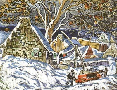 Neige de novembre (c. 1948) - Marc-Aurèle Fortin