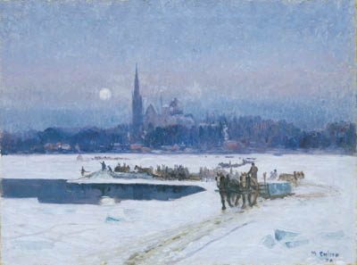 Maurice CULLEN - Ice cutters, Longueuil (1923)