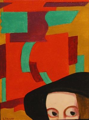 Louise SCOTT - Abstraction et béret  noir