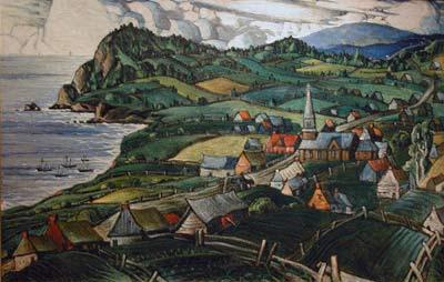 Marc-Aurèle FORTIN - L'Anse aux Gascons (c.1942)