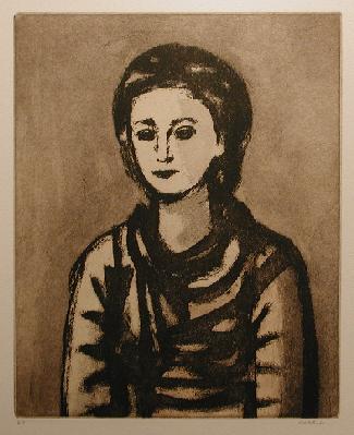 Stanley COSGROVE - Buste en noir
