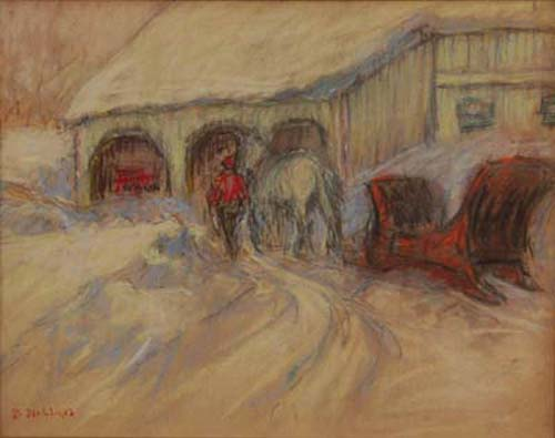 Berthe DES CLAYES - Scène d'hiver