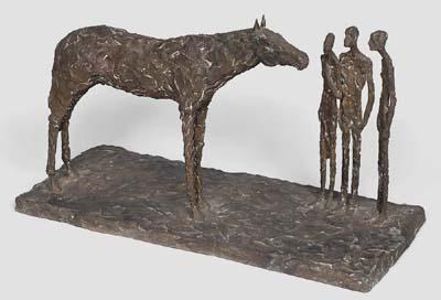 Sylvia LEFKOVITZ - Three figures & horse