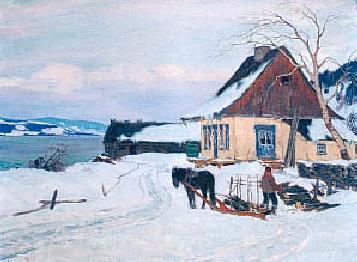 Clarence A. GAGNON - La ferme sur la colline (1911)