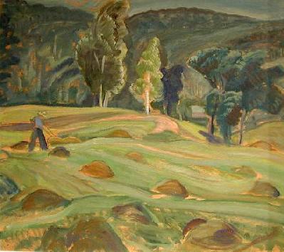 Anne SAVAGE - Harvest time, lake Wonish