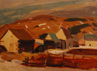 René RICHARD - Près de Baie-St-Paul (1946)
