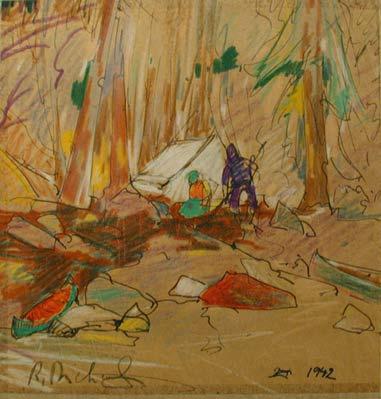 René RICHARD - Campement de trappeurs (1942)