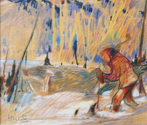 Personnage dans la neige (c.1940) - René Richard
