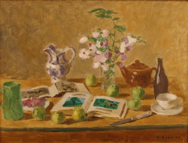 Goodridge ROBERTS - Nature morte aux pommes vertes (c.1955)