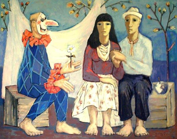 Paul-Vanier BEAULIEU - Saltimbanque (1954)