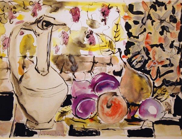 Paul-Vanier BEAULIEU - Nature morte au pichet (1955)