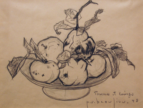 Paul-Vanier BEAULIEU - pommes et coing (1948)