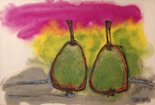 Paul-Vanier BEAULIEU - Deux poires vertes (1964)