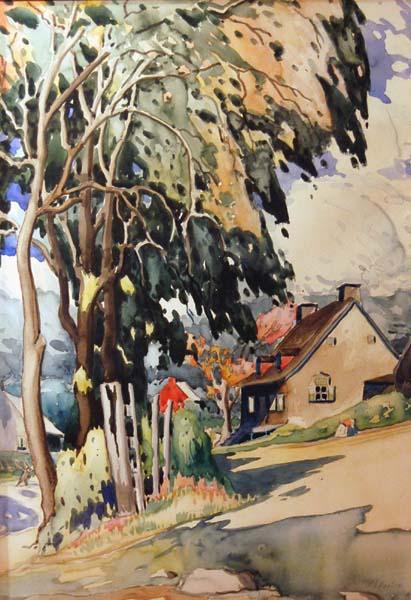 Marc-Aurèle FORTIN - Maison sous les arbres (c. 1925)