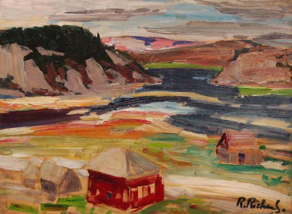 René RICHARD - Près de Baie-Saint-Paul (c. 1955)
