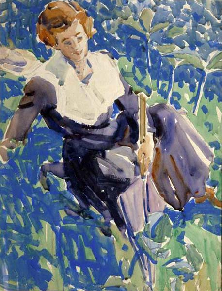 David B. MILNE - White Linen, New York (1912)