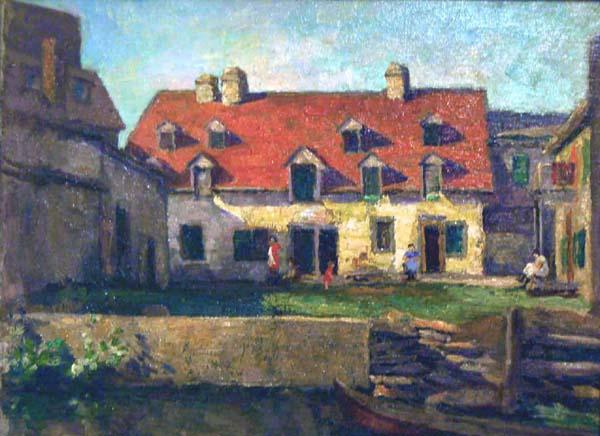 Jean Munro MACLEAN - Old House Lachine (1929)