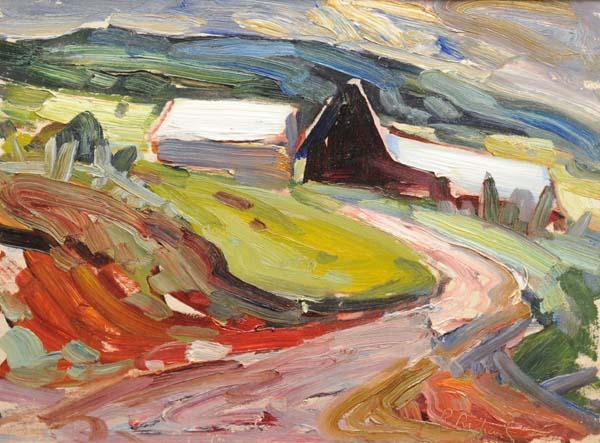 René RICHARD - Rang St-Antoine, Baie St-Paul (c. 1955)