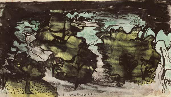 Fritz BRANDTNER - Landscape, Manitoba (1928)