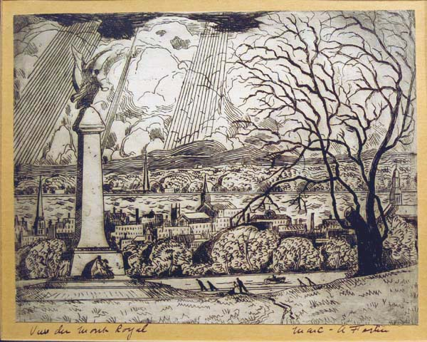 Marc-Aurèle FORTIN - Vue du Mont-Royal (c. 1930)