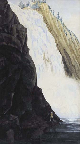 Anonyme  - Montmorency Falls, near Québec (1847)