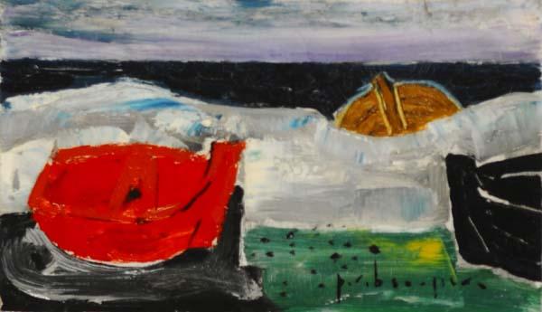 Paul-Vanier BEAULIEU - Sans titre (Barque et eau) c. 1958
